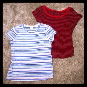 Set of two Anthro Striped T's